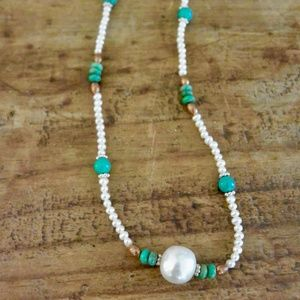 Jewelry - Turquoise and Freshwater Pearl Necklace